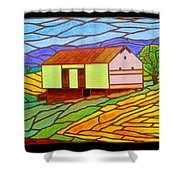 Barn On Springhill Road Shower Curtain