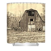 Barn-sepia Shower Curtain