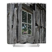 Barn Window Reflection Shower Curtain