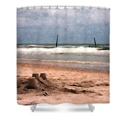 Barnacle Bill's And The Sandcastle Shower Curtain