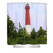 Barnegat Lighthouse Old Barney Long Beach Island Nj Shower Curtain