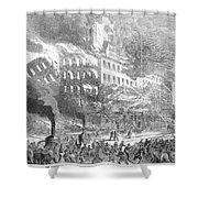 Barnums Museum Fire, 1865 Shower Curtain