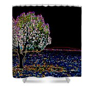Barren Tree Shower Curtain