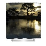 Barrie Harbour Sunrise Shower Curtain