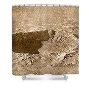Barringer Crater Shower Curtain