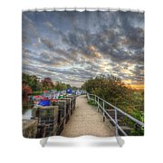 Barrow Sunrise Shower Curtain