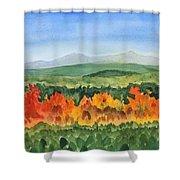 Barton Vermont Autumn Shower Curtain