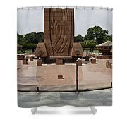 Base Of The Jallianwala Bagh Memorial In Amritsar Shower Curtain