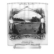 Baseball, 1861 Shower Curtain