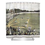 Baseball, 1866 Shower Curtain