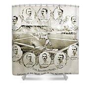Baseball, 1895 Shower Curtain
