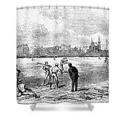 Baseball: England, 1874 Shower Curtain