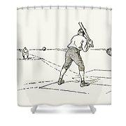 Baseball Game, 1889 Shower Curtain