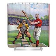 Baseball Game, C1895 Shower Curtain