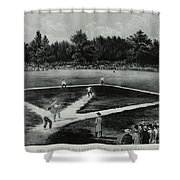 Baseball In 1846 Shower Curtain by Omikron
