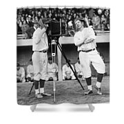 Baseball Players, 1920s Shower Curtain