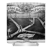 Baseball Polka, 1867 Shower Curtain