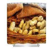 Basket Of Peanuts Shower Curtain