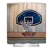 Basketball Hoop Sketchbook Project Down My Street Shower Curtain by Irina Sztukowski