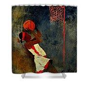 Basketball Player Shower Curtain