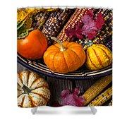 Basketful Of Autumn Shower Curtain