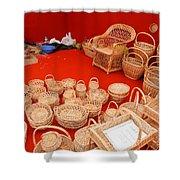 Basketwork Shower Curtain
