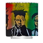 Basquait Me Myself And I Shower Curtain