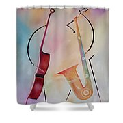 Bass And Sax Shower Curtain