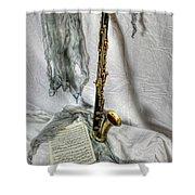 Bass Clarinet Shower Curtain