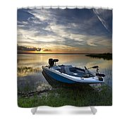 Bass Fishin' Evening Shower Curtain