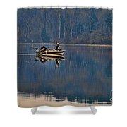 Bass Fishing Shower Curtain