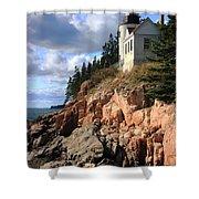 Bass Harbor Head Lighthouse Shower Curtain