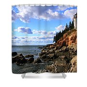 Bass Harbor Head Seascape Shower Curtain