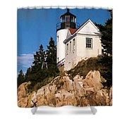 Bass Harbor Light Acadia National Park Maine Shower Curtain