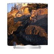 Bass Harbor Lighthouse Sunrise Acadia National Park Shower Curtain