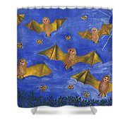 Bat People At The Pipistrelle Party Shower Curtain
