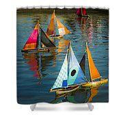 Bateaux Jouets Shower Curtain by Beth Riser