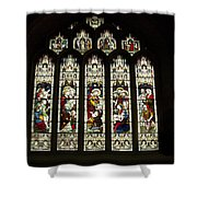 Bath Abbey Stained Glass Shower Curtain