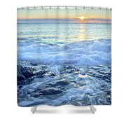 Bathed In Blue Shower Curtain