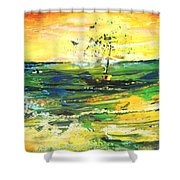 Bathed In Golden Light Shower Curtain