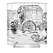 Bathing Machine, 1888 Shower Curtain