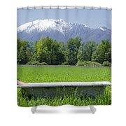 Bathtub On A Green Field Shower Curtain