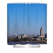 Baton Rouge Skyline Louisiana  Shower Curtain