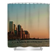 Battery Park City Shower Curtain