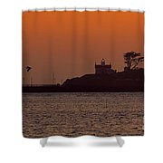 Battery Point Sunset Shower Curtain
