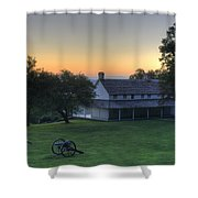 Battle Grounds Shower Curtain
