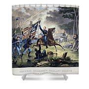 Battle Of Chantlly, 1862 Shower Curtain