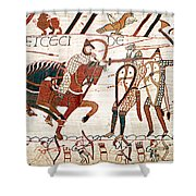 Battle Of Hastings Bayeux Tapestry Shower Curtain