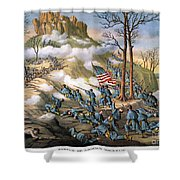 Battle Of Lookout Mount Shower Curtain by Granger