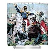 Battle Of Veracruz, Mexican-american Shower Curtain